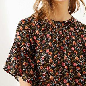 Floral Tie Back Blouse